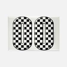 Race Car #00 Rectangle Magnet