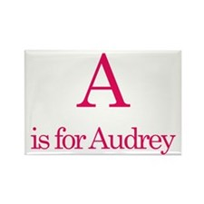 A is for Audrey Rectangle Magnet (10 pack)