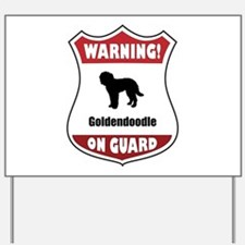 Goldendoodle On Guard Yard Sign