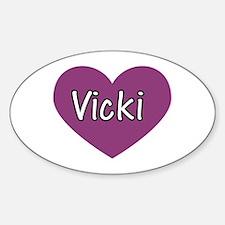 Vicki Oval Decal