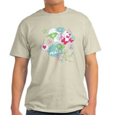 Pastel Abstract Birds Butterflies Peace T-Shirt