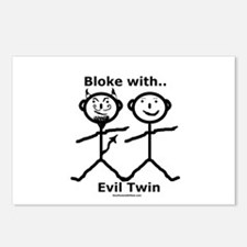 Bloke With Evil Twin Postcards (Package of 8)