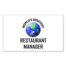 World's Greatest RESTAURANT MANAGER Decal