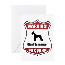 Schnauzer On Guard Greeting Card
