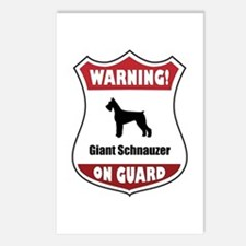 Schnauzer On Guard Postcards (Package of 8)