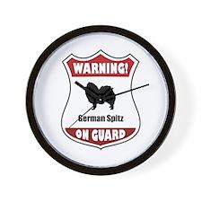 Spitz On Guard Wall Clock