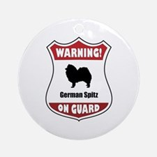 Spitz On Guard Ornament (Round)