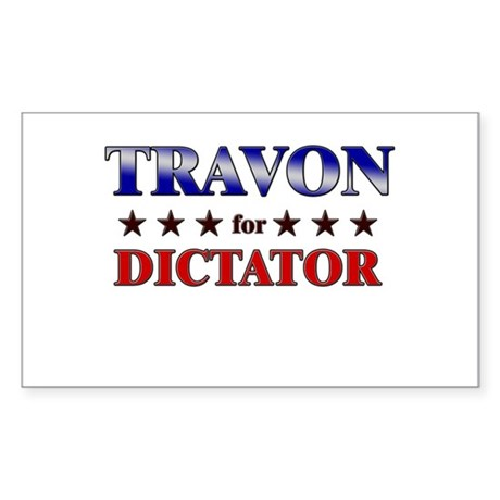 TRAVON for dictator Rectangle Sticker