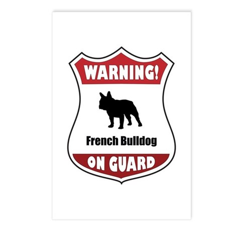 Bulldog On Guard Postcards (Package of 8)