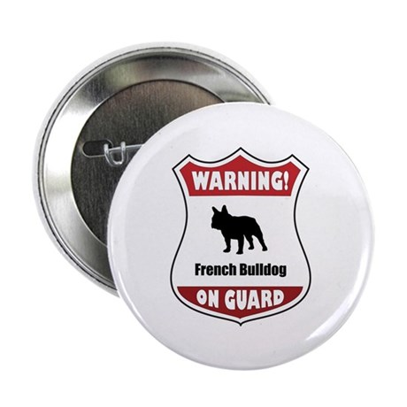 "Bulldog On Guard 2.25"" Button (10 pack)"