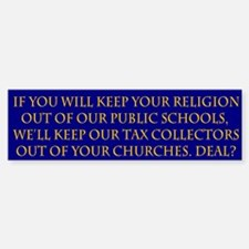 Church and State Bumper Bumper Bumper Sticker