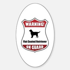 Flatcoat On Guard Oval Decal