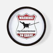 Flatcoat On Guard Wall Clock