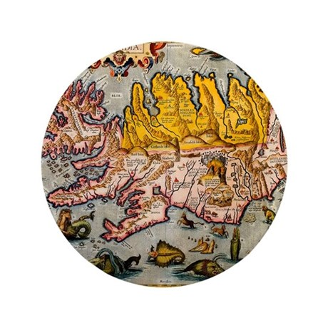 """""""Iceland Map"""" 3.5"""" Button (100 pack)"""