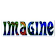 Imagine Bumper Bumper Bumper Sticker