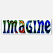 Imagine Bumper Car Car Sticker