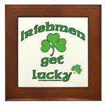 Irishmen Get Lucky Framed Tile