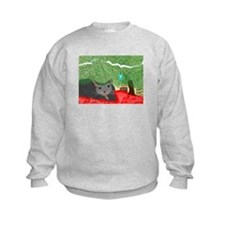 Christmas Kitty front & back Sweatshirt