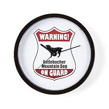 Entlebucher On Guard Wall Clock