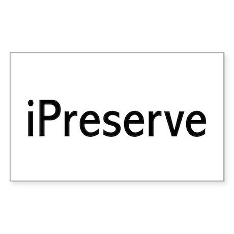 iPreserve Rectangle Sticker