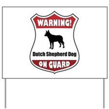 Shepherd On Guard Yard Sign