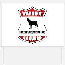 Shepherd On Guard Yard Sign