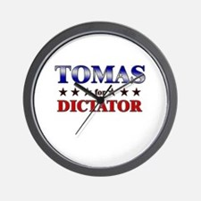 TOMAS for dictator Wall Clock