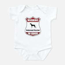 Doberman On Guard Infant Bodysuit