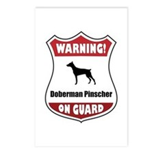 Doberman On Guard Postcards (Package of 8)