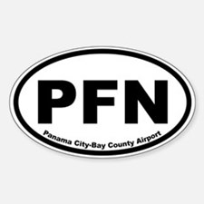 Panama City-Bay County Airport Oval Decal