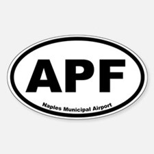 Naples Municipal Airport Oval Decal