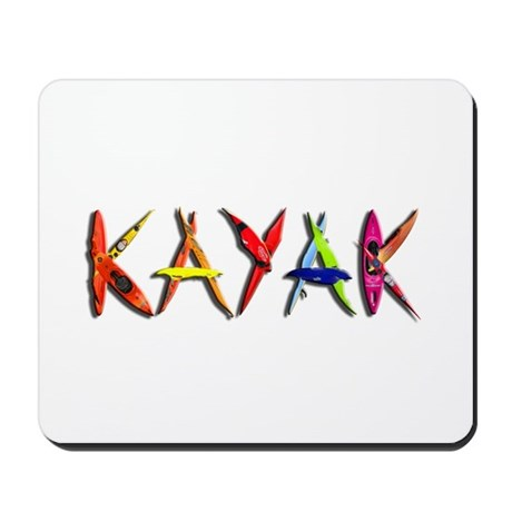 Kayak Graffiti Mousepad