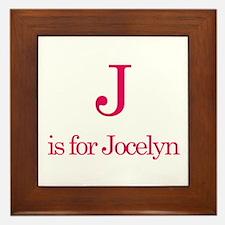 J is for Jocelyn Framed Tile