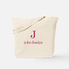 J is for Jocelyn Tote Bag