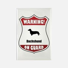Dachshund On Guard Rectangle Magnet