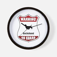 Dachshund On Guard Wall Clock