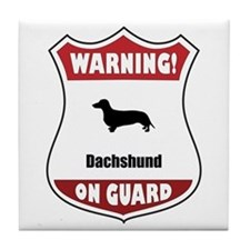 Dachshund On Guard Tile Coaster