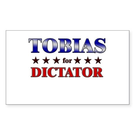 TOBIAS for dictator Rectangle Sticker