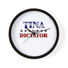 TINA for dictator Wall Clock