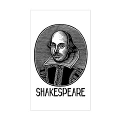Shakespeare Rectangle Decal