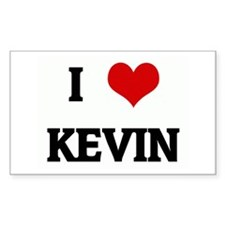 I Love KEVIN Rectangle Decal