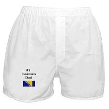 #1 Bosnian Dad Boxer Shorts