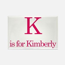 K is for Kimberly Rectangle Magnet (10 pack)