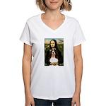 Mona/ English Springer Women's V-Neck T-Shirt