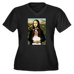 Mona/ English Springer Women's Plus Size V-Neck Da