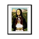 Mona/ English Springer Framed Panel Print
