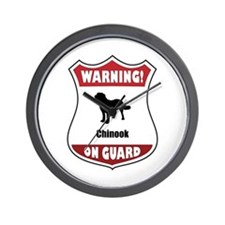 Chinook On Guard Wall Clock