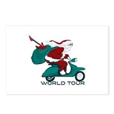 Santa's World Tour Scooter Postcards (Package of 8