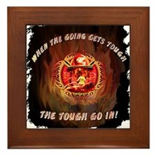 When the going gets tough Framed Tile