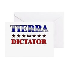 TIERRA for dictator Greeting Card